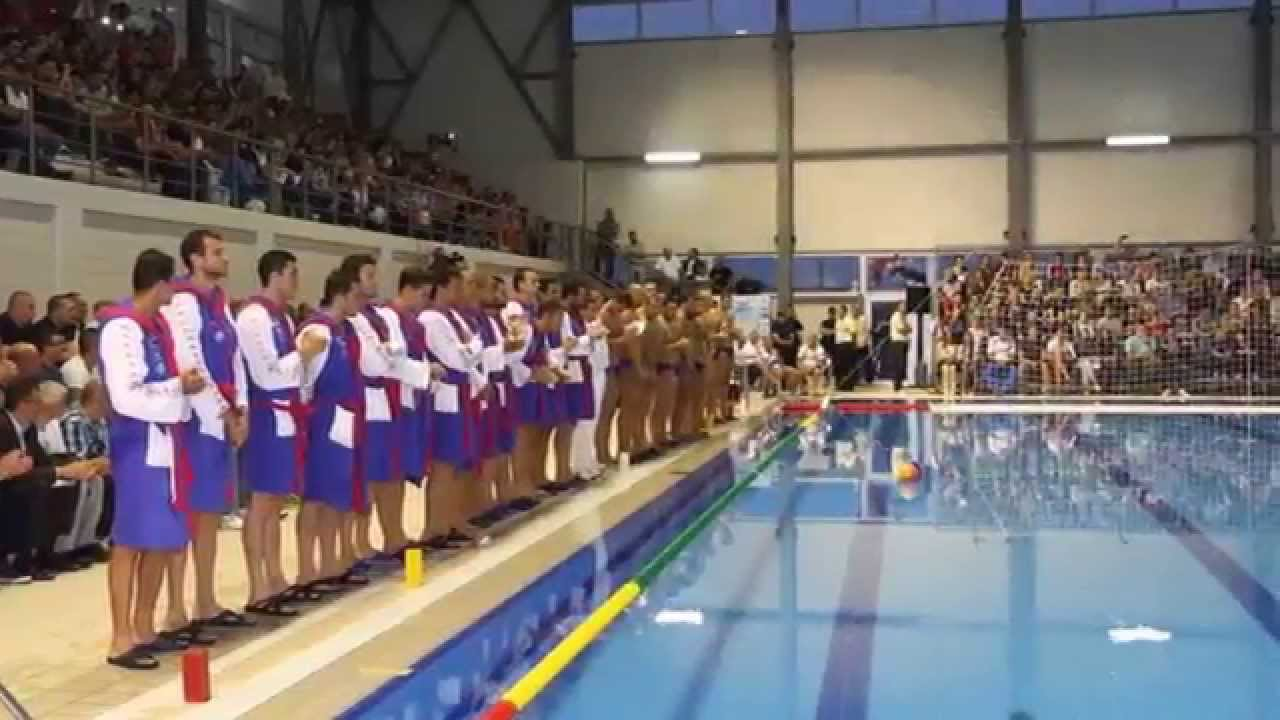 Vaterpolo Srbija - Rusija, Otvaranje bazena Šabac - YouTube
