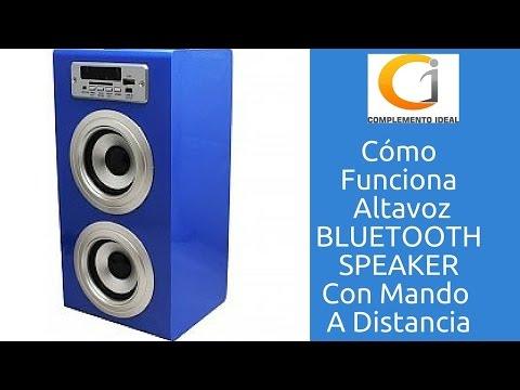 Como Funciona Altavoz Bluetooth Portatil Con Radio FM, Micro SD, USB y Batería Liso Azul BBQ SPEAKER