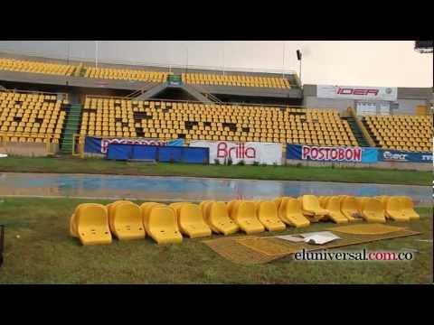 Así quedó el estadio Jaime Morón después de los disturbios