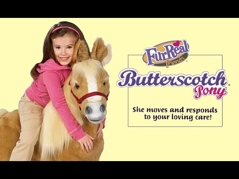 Butterscotch Furreal Life Size Pony By Hasbro Youtube