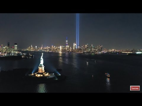 New York City Skyline At Night Screensaver Manhattan Skyline HD Aerial Landscapes Live