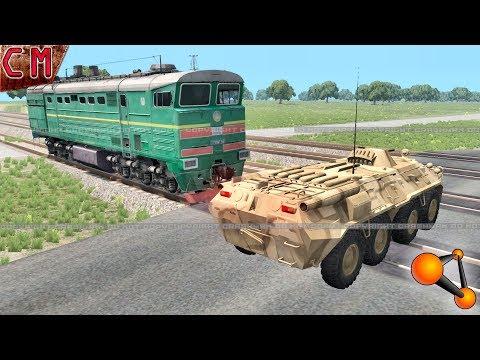 BeamNG Drive Diesel Train VS Heavy Vehicles