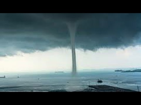 Wow!! Destructive Huge Waterspout Comes Ashore In Novorossiysk, RUSSIA (AUGUST 08, 2021)