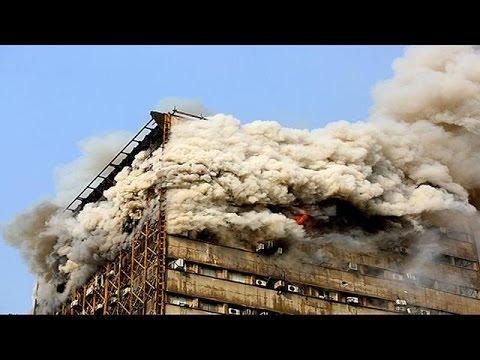 دستکم ۳۰ کشته در پی فرو ریختن ساختمان پلاسکو در تهران