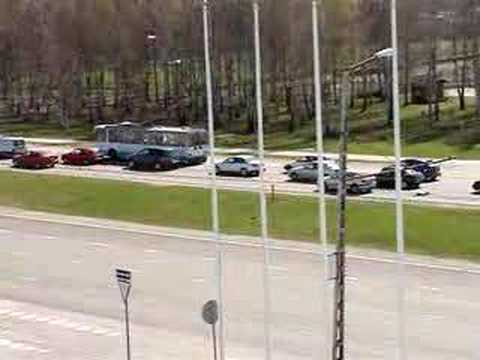 Estonia, Tallinn : auto-sabotage