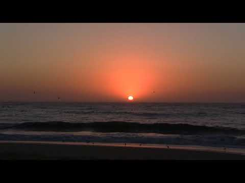 Observing A Gorgeous Sunset Over The Pacific From Moss Landing, CA (10-8-2017) Video Clip #1