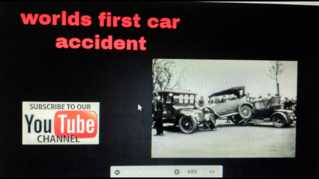 WORLDS FIRST CAR ACCIDENT . world first car by THE BENZ MOTORWAGEN ...