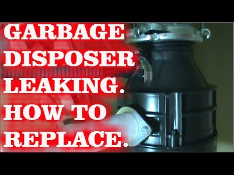 Garbage Disposal Leaking How To Replace