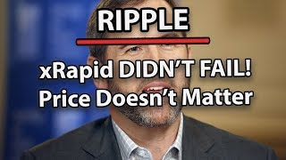 Ripple (XRP) Why Is The Price 'Tanking'? & Why xRapid Wasn't a Failure!