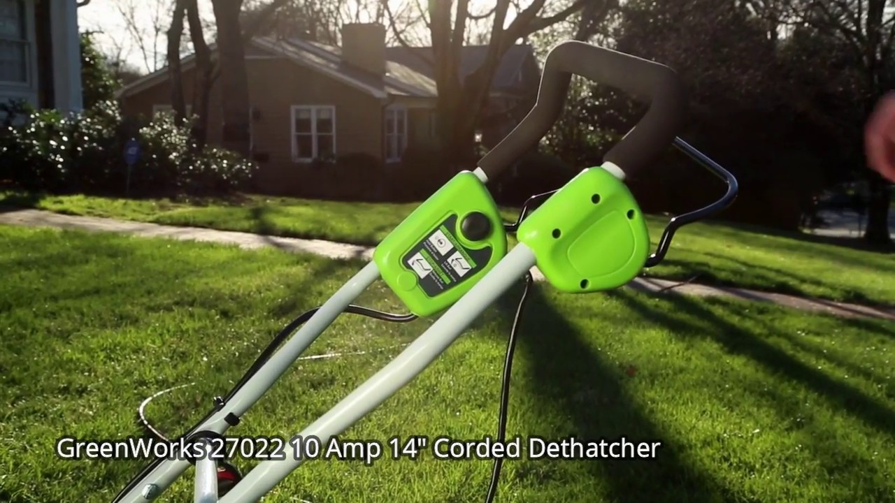Greenworks 27022 Corded Dethatcher Review Greenworks 27022 10 Amp 14 Corded Dethatcher Youtube Free shipping for many products! greenworks 27022 corded dethatcher review greenworks 27022 10 amp 14 corded dethatcher