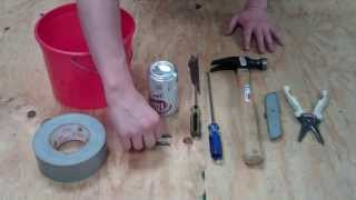 How To Build A Pop Can Rocket  (out Of Common Household Items)