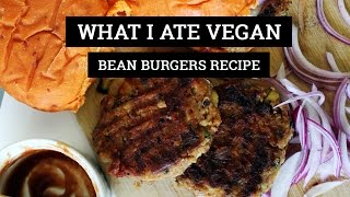 WHAT I ATE VEGAN #68 // BBQ ZUCCHINI BEAN BURGERS RECIPE| Mary's Test Kitchen