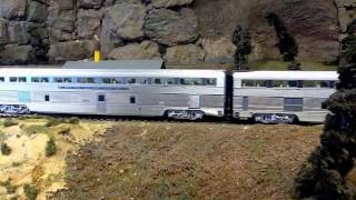 HO Scale El Capitan Train Pulling Into A Siding