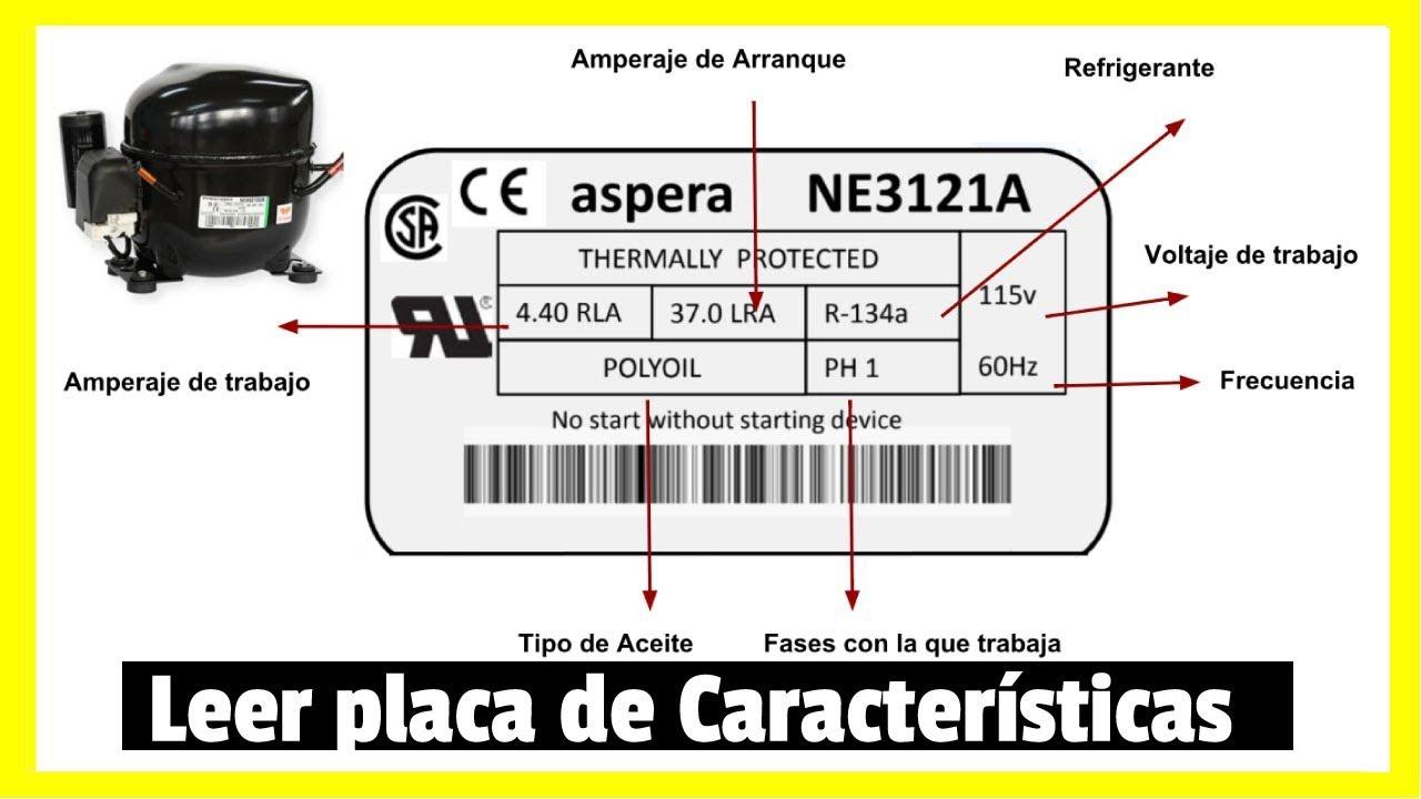 C 211 Mo Leer La Etiqueta De Un Compresor Embraco Funciona