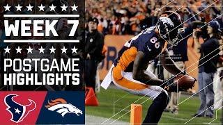Texans vs. Broncos | NFL Week 7 Game Highlights