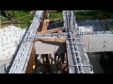 Building a house in Southern Leyte Philippines part 11. 2nd floor beams part 2