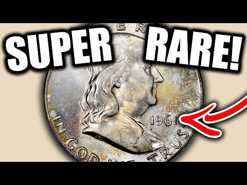SUPER RARE 1961 FRANKLIN HALF DOLLAR COINS WORTH MONEY - SILVER COIN VALUES