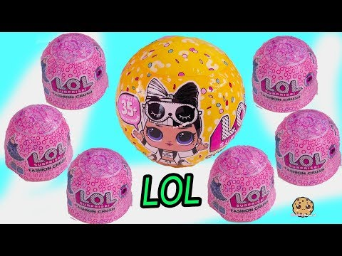 Jelly Fashion Crush Dress Up ! LOL Surprise Blind Bag Cups + Confetti POP Doll