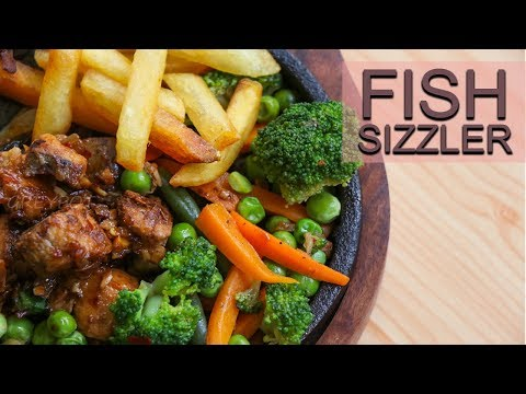 Fish Sizzler Recipe | Sea Food Sizzlers | Fish Chilly With Vegetables