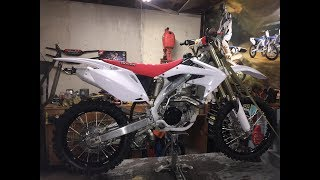 CRF450R transformation into something beautiful