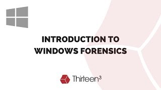 Introduction to Windows Forensics