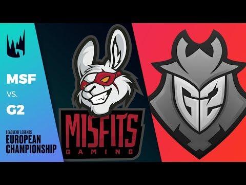 [Match of the Week] MSF vs G2 - LEC 2019 Spring Split W5D1 - Misfits vs G2 Esports