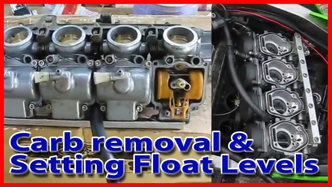 Removing Carbs Amp Setting Float Levels On A Kawasaki Zxr250