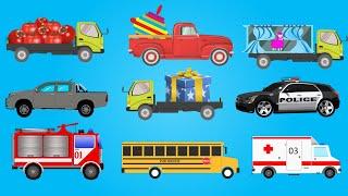 Песенки для детей. Машинки едут. Мультик про машинки.Развивающий мультик для детей.