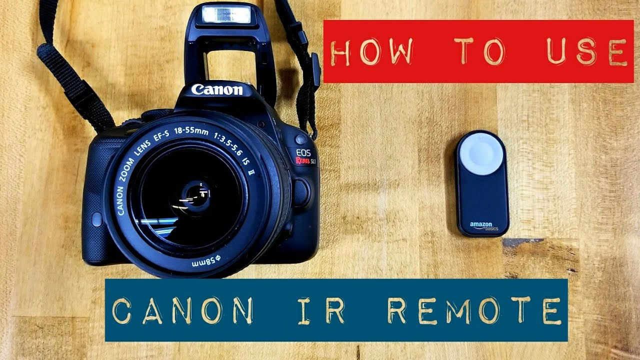 How To Use A Remote With Your Canon DSLR by Amazon Basics