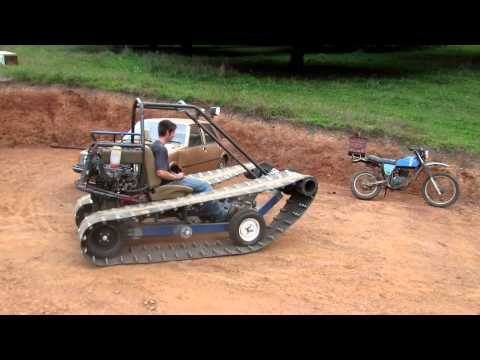 Tracked vehicle, First test drive