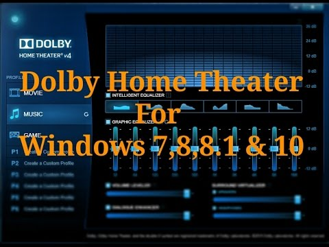 How to install dolby home theater v4 in pc ?