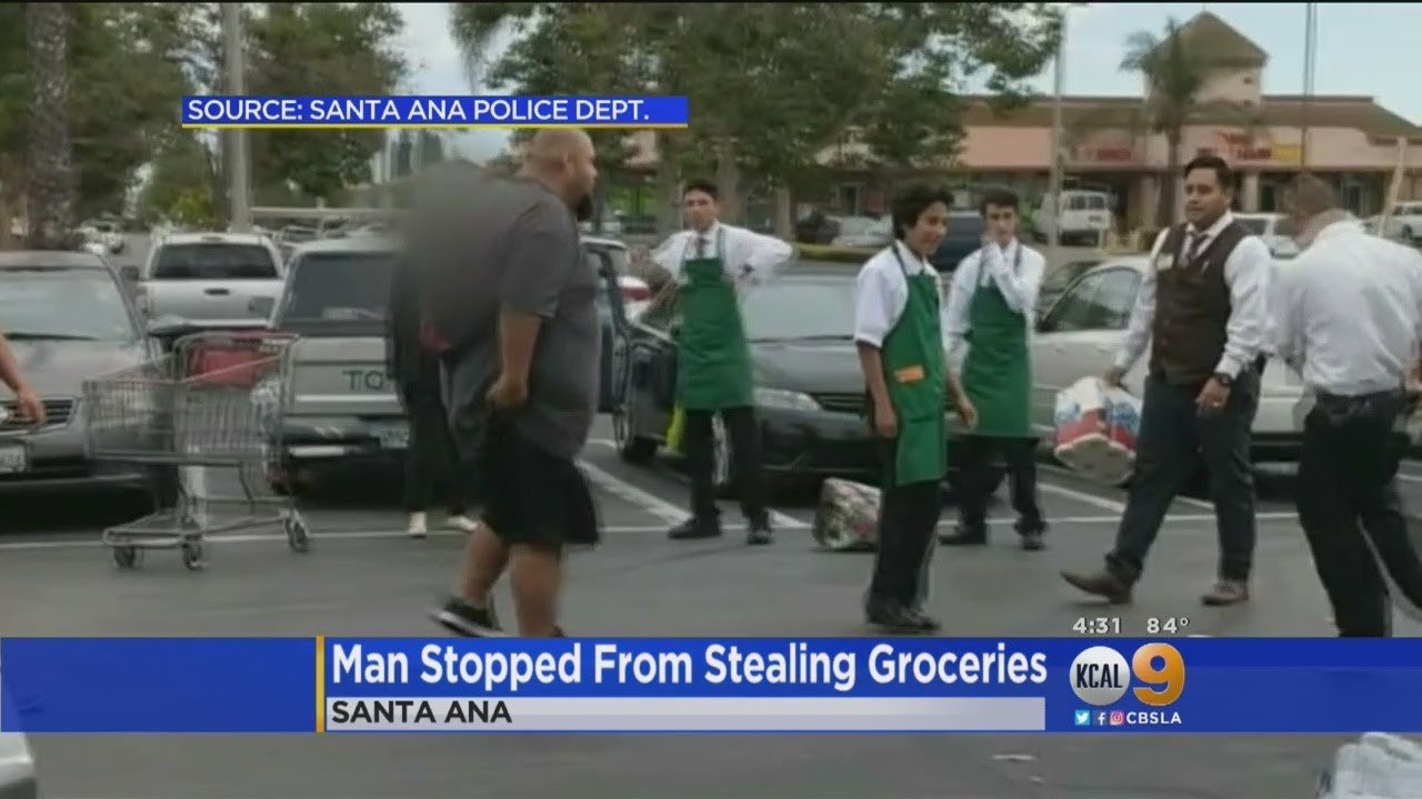 Attempted Grocery Theft On Camera