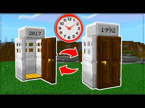 COMMAND BLOCK TIME MACHINE in Minecraft PE // Minecraft Pocket Edition TIME MACHINE