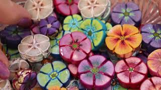 How To Create Pencil Stroke Flower Beads with Polymer Clay