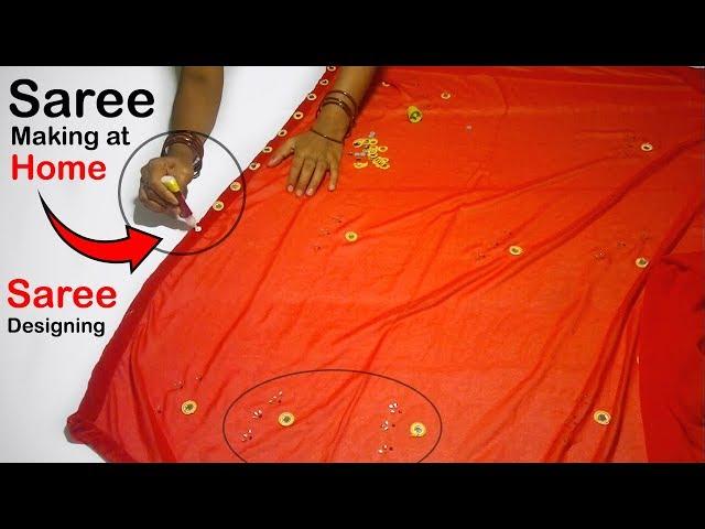 Saree Making at Home | Saree Designing Ideas | Saree Designs | DIY