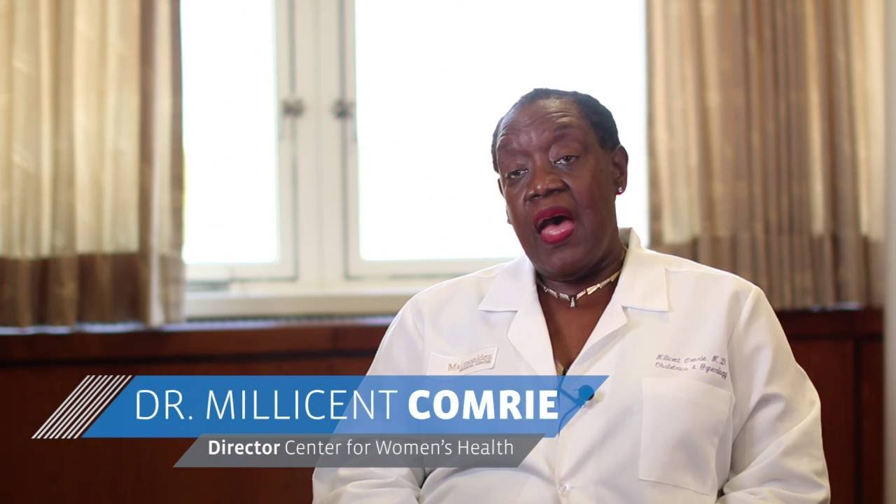 Dr  Millicent Comrie, Director of the Brooklyn Heights Women's Center at  Maimonides Medical Center