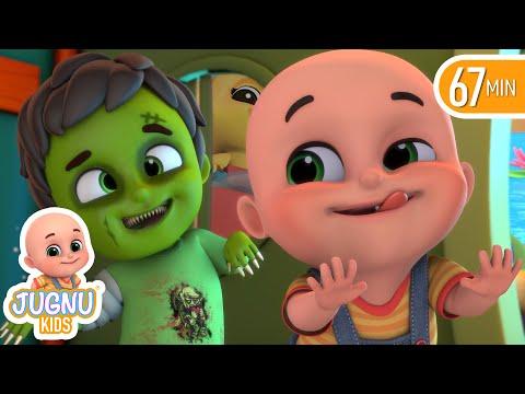 Haunted House & Halloween song for children | Finger Family | Nursery Rhymes from Jugnu kids
