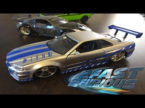 2 Fast 2 Furious Brian's Nissan Skyline GTR R34 Jada Toys