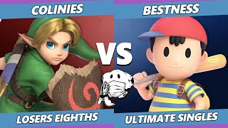 GOML 2020 SSBU - ARM | BestNess (Ness) Vs. Colinies (Young Link) Ultimate Top 8 Losers