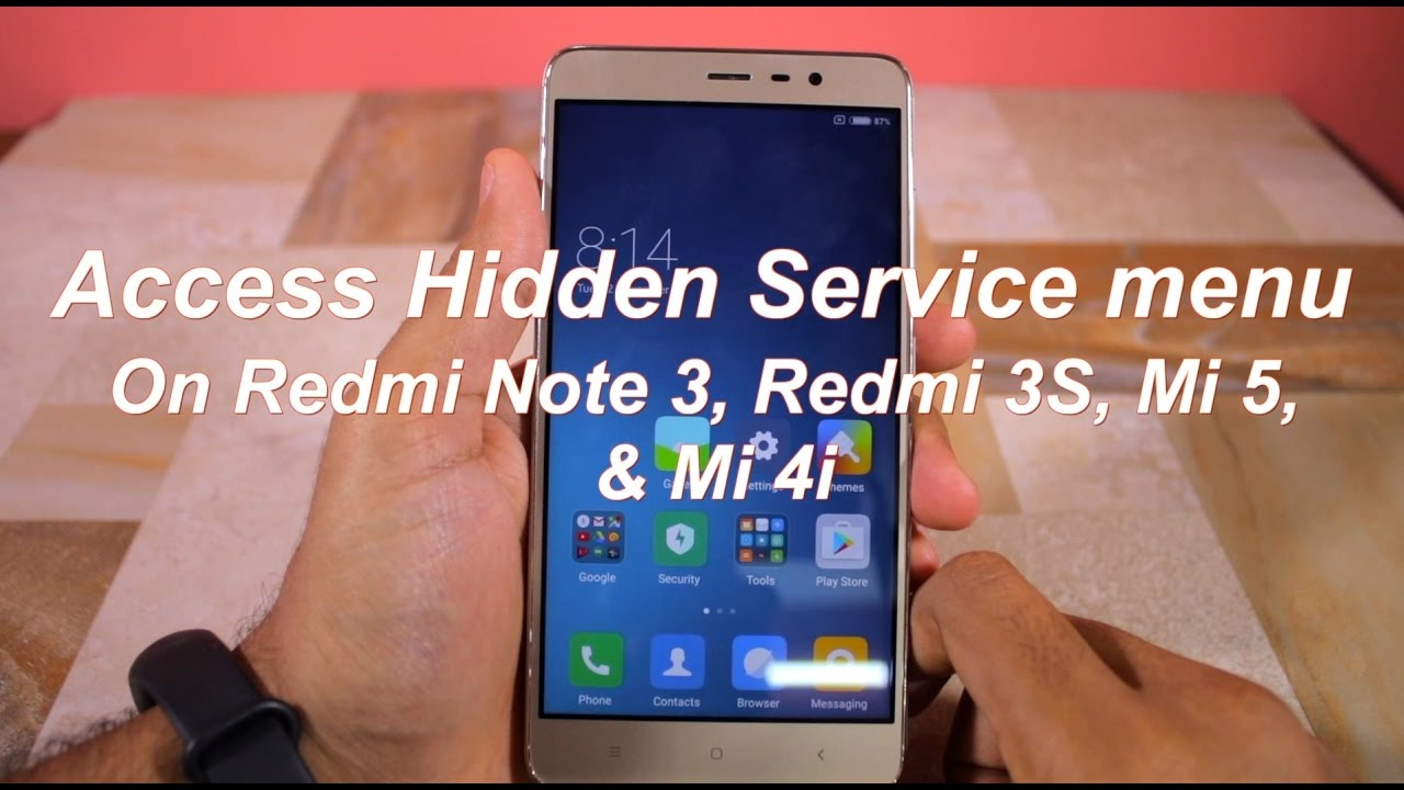 How to Access Hidden Service Menu on Redmi Note 3, Redmi 3S, Mi 5