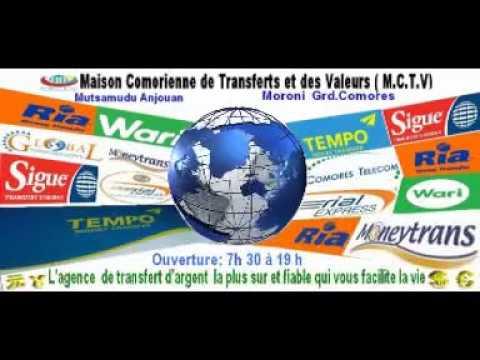 Maison Comorienne des Transferts et Valeurs (MCTV ).L'agence de transfert d'argent