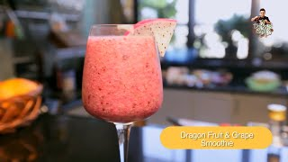 How To Make Dragon Fruit & Grape Smoothie By Vicky Ratnani