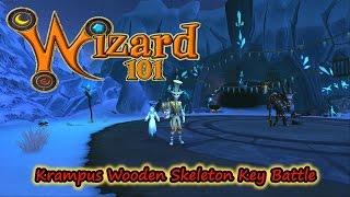 Wizard101 Krampus Skeleton Key Boss Wooden Level Battle Solo