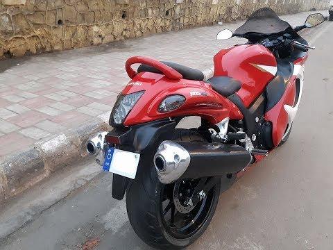 Hero Xtreme modified into a Suzuki Hayabusa replica Modified By Delhi Based Gm custom