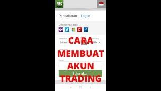 Cara Membuat Akun Trading di FBS