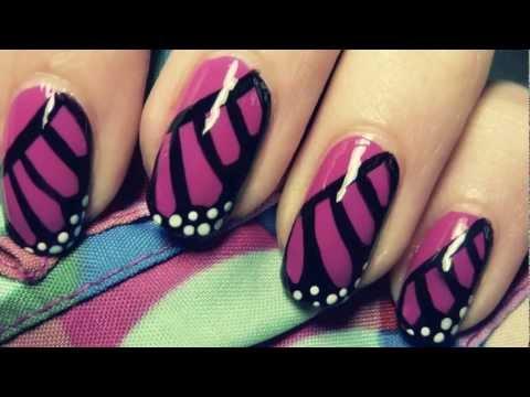 Monarch Butterfly Wing Nail Art Tutorial
