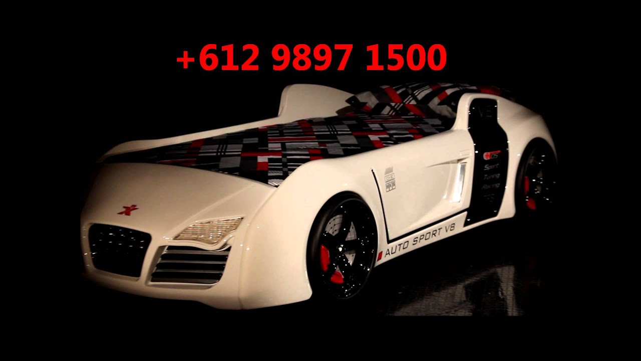 Kinderbett auto audi  Fast Car Beds V8 Quattro - YouTube