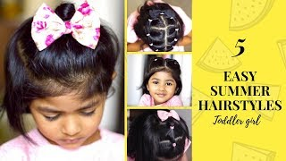 5 EASY INDIAN SUMMER HAIRSTYLES for short hair | Toddler hairstyles | Cute & Quick