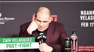 Cain Velasquez says it was his knee, not Francis Ngannou, that cost him at UFC Phoenix