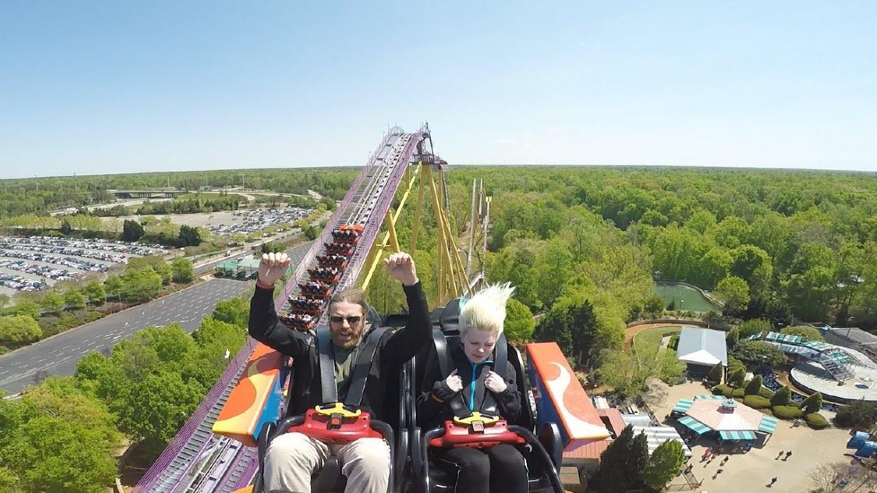 Tempesto On Ride Ridercam Reverse Hd Pov Busch Gardens Williamsburg Youtube